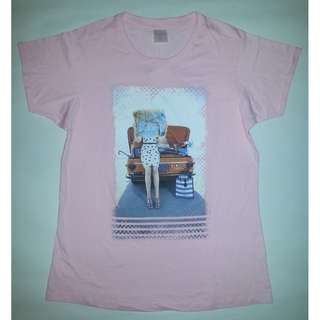 QYOP BNWT Baby Pink Road Trip Graphic Tee - Size L