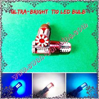 Ultra-Bright T10 W5W 57SMD High Quality CANBUS Error Free 57SMD Crystal White Ice-Blue Deep-Blue LED Bulb for Car, Van, Bikes, Minibus, Lorry
