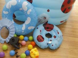 4 ring Baby Kids Children inflatable swimming pool Ladybug