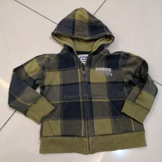 Oshkosh Checkered Hooded Sweater (3-4y)