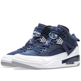 NIKE AIR JORDAN SPIZIKE MIDNIGHT NAVY, SILVER & WHITE