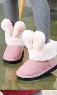 Pink rabbit winter boots