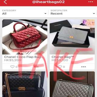Fake bags!!!!!! Not authentic !!!!
