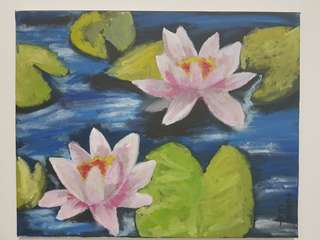 Lotus on water painting