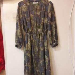 抹茶氣質古著洋裝