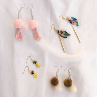 SUMMER EARRINGS (PER PAIR)