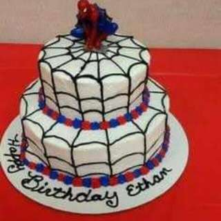2 LAYER SPIDER MAN ICING CAKE💖