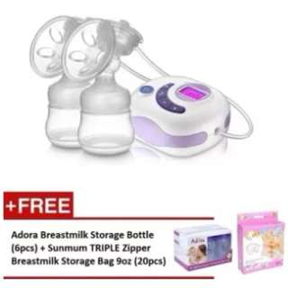 Autumnz SERENE Convertible Double Electric/Manual Breastpump *FREE GIFT*