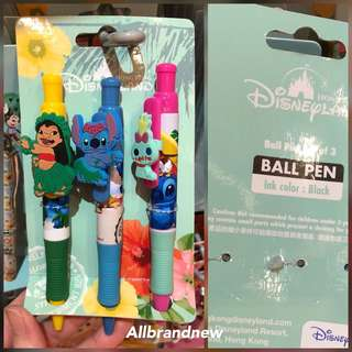 PO Hong Kong Disney lilo And stitch and Scrump pen set