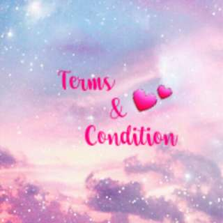 Terms amd condition💕