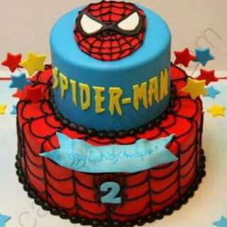 2 layer Spiderman Fondant cake💖