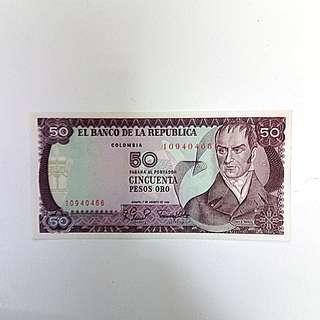 🚚 【藏閣】哥倫比亞1981年50-PESOS紙鈔