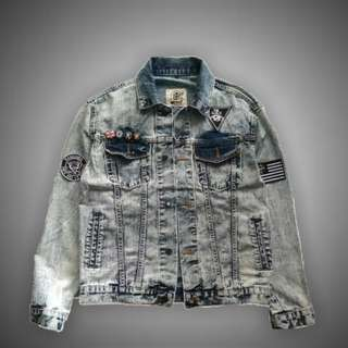 Jaket Jeans Denim - Blue Jones Broadway