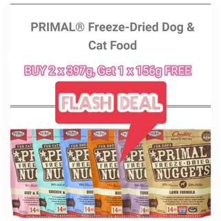 [BUY 2 FREE 1] Primal® Freeze-Dried Nuggets Chicken Formula Dog Food   Cat Food