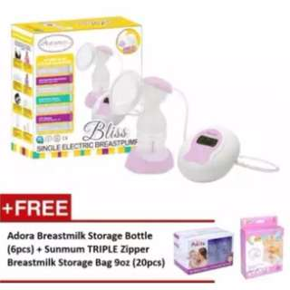Autumnz BLISS Convertible Single Electric/Manual Breastpump *FREE x 2 GIFTS*