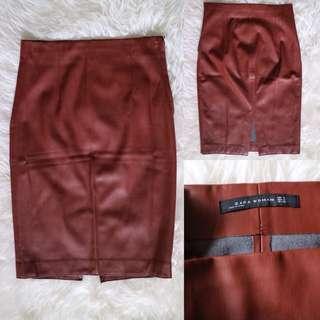Zara Leather Pencil Skirt