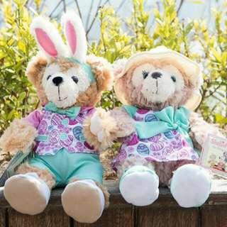 春日 復活節版 一對 Duffy ShellieMay 復活兔造型公仔 2018年 新款 Duffy & Friends 香港迪士尼樂園  Hong Kong Disneyland