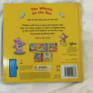 Pre-loved the wheels on the bus book with music