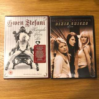 3 DVD live for sale-Air supply,Gwen Stefani,Evanescence