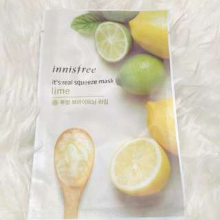 Innisfree squeeze mask Lime ori