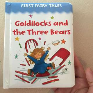 Pre-loved goldilocks and the three bears book