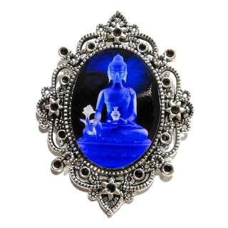 Handmade  Medicine Buddha  Resin Pendant 琉璃药师佛药师琉璃光如来 NOT FOR SALE