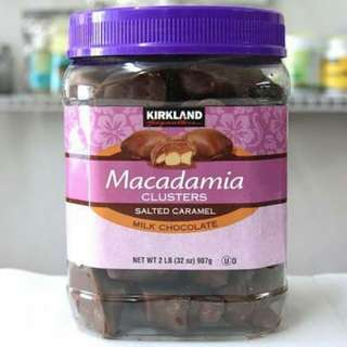 Macadamia salted caramel milk chocolate