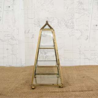 RENT: Gold Pyramid Display Terrarium