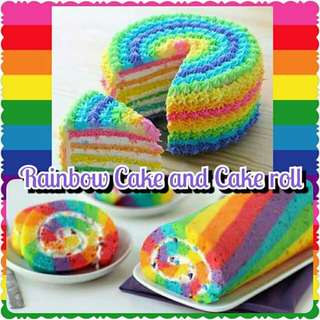 RAINBOW CAKE AND ROLL CAKE