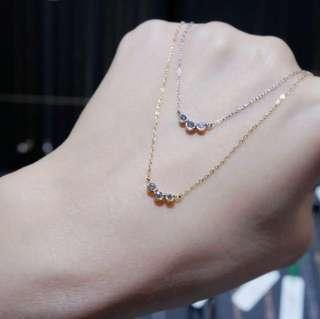 小胖微笑線鑽石鎖骨鏈