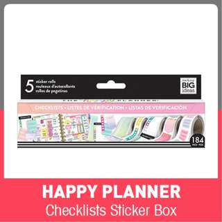 Happy Planner Checklists Sticker Rolls