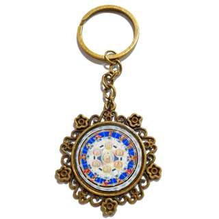 Handmade World Pharmacist Mandala Blessing Pharmacist Family Resin Key Chain (东方净琉璃世界药师坛城加持药师家族)