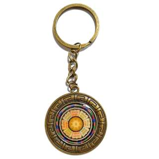 Handmade Great Wilder Gold Buddha Top Flames of Light Tathagata Resin Key Chain (大威德金輪佛頂熾盛光如來)