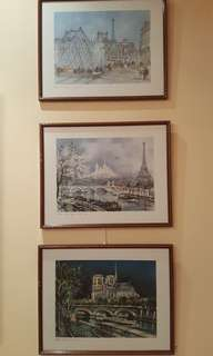 Antique Framed Parisian Prints