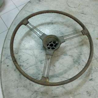 Metal Car Steering Vintage 2