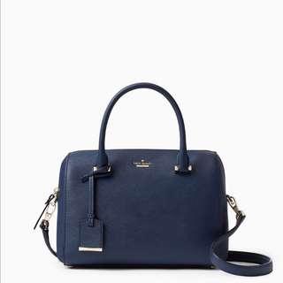 SALE Kate Spade Cameron Street Large Lane Satchel Handbag Slingbag Twilight Navy Blue