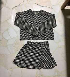 Black polka dots 2 piece set