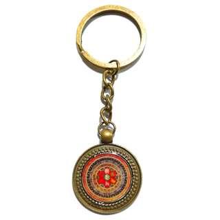 Handmade Tibetan Buddhism, Om Mani Padme Hum Resin Key Chain (六字真言)