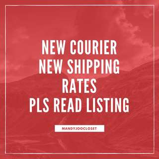 NEW SHIPPING FEE RATES