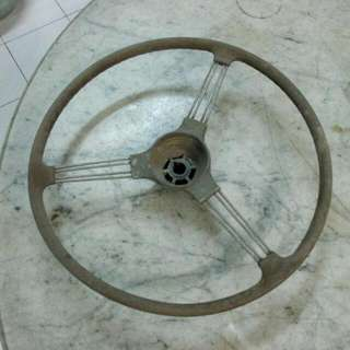 Metal Car Steering Vintage 3