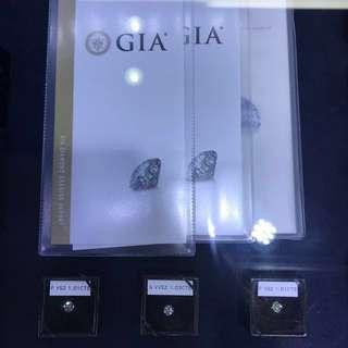 大量現貨Gia 1卡天然真鑽石 Diamonds 1cts below and up,求婚對戒可訂做