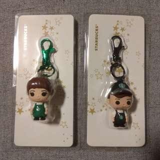 Starbucks Barista keychains
