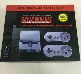 Retro Super Nintendo clone console with multiple games
