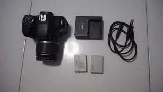 Canon 550D with 18-55mm kit lens