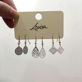 BN Lovisa silver earrings