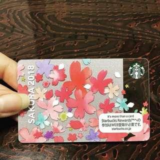 2018 Spring Japan Starbucks card