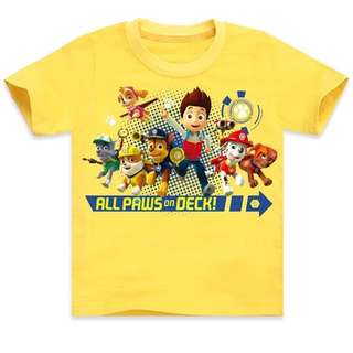 3 Designs - Yellow Paw Patrol T-Shirts