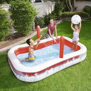TVP154  Rectangular Inflatable Pool With Kiddie Volley Ball Swimming Pool