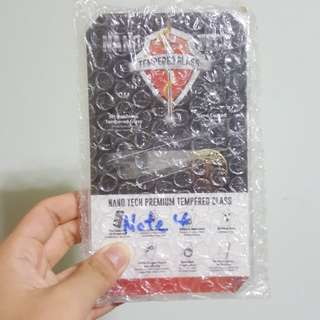 Note 4 Tempered glass screen protector