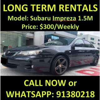 Subaru Impreza 1.5M Long Term Weekend Car Rental